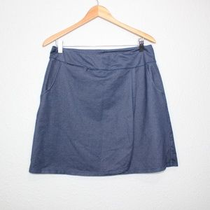 REI Blue Faux Wrap Mini Skirt sz Medium